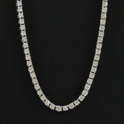 14K White Gold 6.00 CTW Diamond Necklace