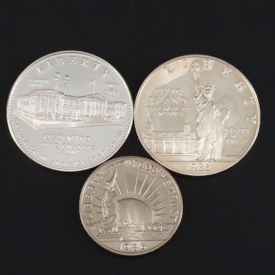 Two U.S. Commemorative Proof Silver Dollars and a Proof Half Dollar
