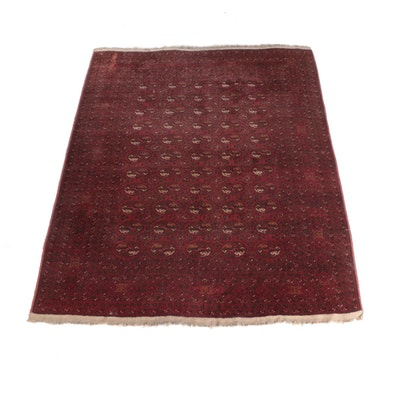 8'5 x 11'4 Hand-Knotted Persian Tekke Bokhara Wool Rug