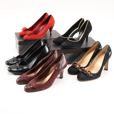 Fratelli Rossetti, Adrienne Vittadini, Cole Haan and Anne Klein High Heel Pumps
