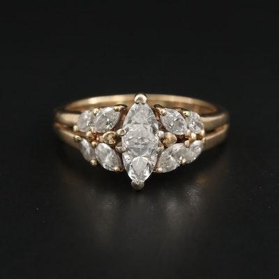 14K Yellow Gold 1.02 CTW Diamond Ring
