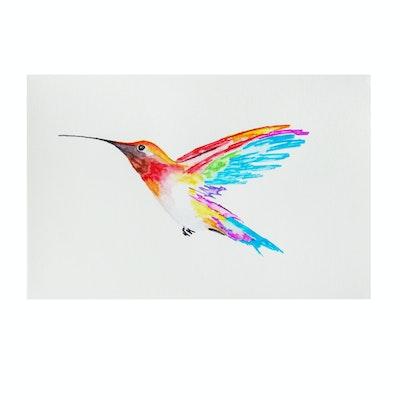 deSanto Watercolor Painting of a Hummingbird