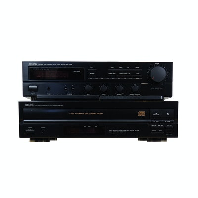 Denon DRA-335R Stereo Receiver and DCM-32 Compact Disc Auto Changer