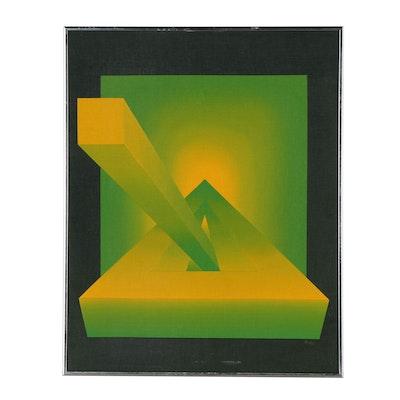 Acrylic Op-Art Painting