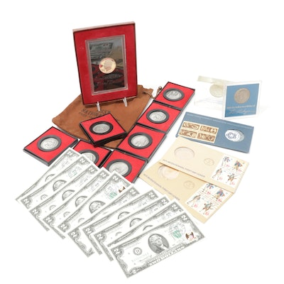 $2 Bicentennial Federal Reserve Notes, Commemorative Medals and Coins