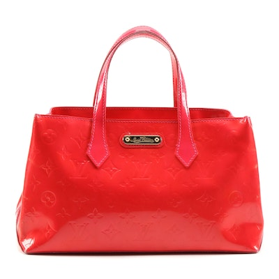 Louis Vuitton Wilshire PM Handbag in Rose Pop Monogram Vernis