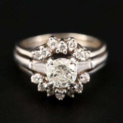 Platinum and 14K White Gold 1.55 CTW Diamond Ring