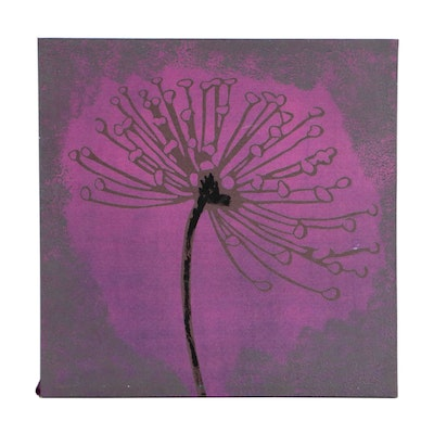 Embellished Giclee of Abstract Floral Motif