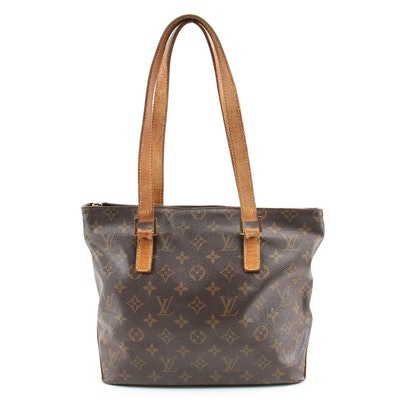 Louis Vuitton Cabas Piano Shoulder Tote in Monogram Canvas and Leather