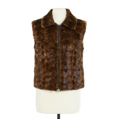 Alberto Makali Mink Paw Fur Vest