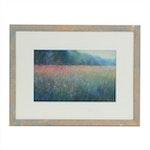 Sandra Rubel Pastel Drawing of Floral Landscape