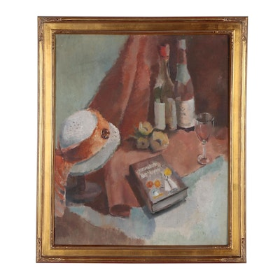 Elsie Batzell Still Life Oil Painting, Mid 20th Century