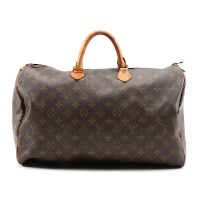 Louis Vuitton Speedy 40 Bag in Monogram Canvas and Leather
