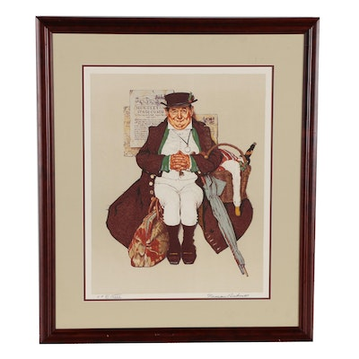 """Norman Rockwell Lithograph """"Muggleton's Stagecoach"""""""