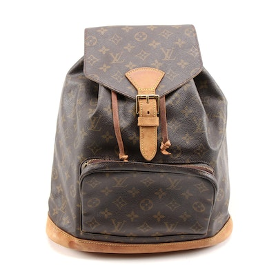 Louis Vuitton Montsouris Backpack in Monogram Canvas and Leather