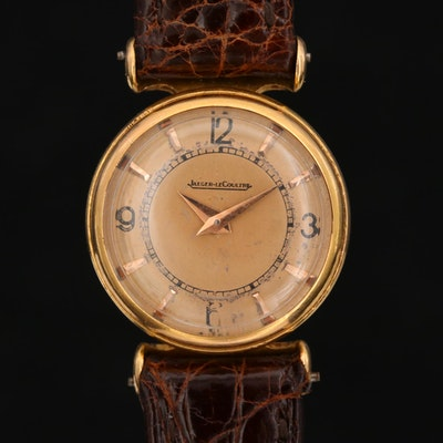 Vintage Jaeger LeCoultre 18K Gold Back Wind Wristwatch