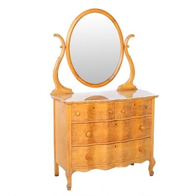 Bird's-Eye Maple Serpentine-Front Dresser, Second Quarter 20th Century