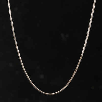 14K White Gold Chain Link Necklace