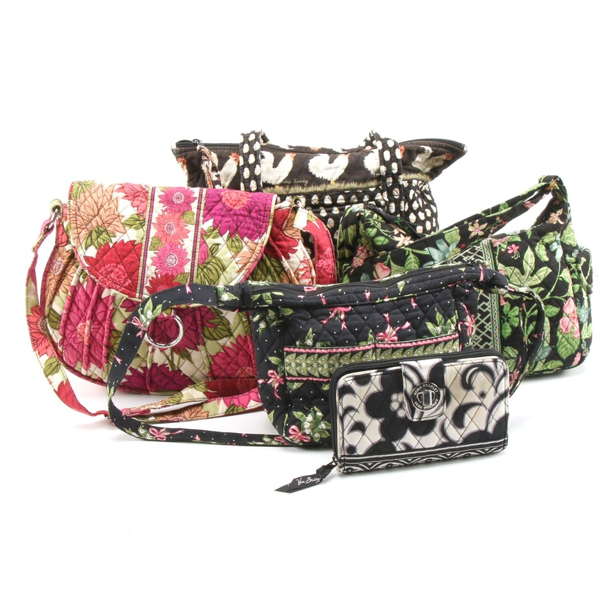 """Vera Bradley """"Night & Day"""" Wallet, """"Hello Dahlia!"""", """"Chanticlear"""" Bags and More"""