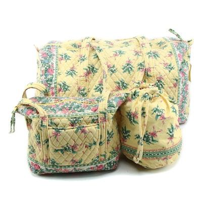 "Vera Bradley ""Hope"" Pattern Travel Duffel, Shoulder Tote and Drawstring Bag"
