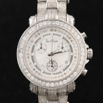 Joe Rodeo Stainless Steel and 5.82 CTW Diamond Quartz Wristwatch