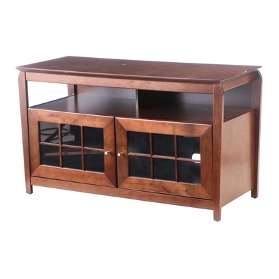 Tech Craft Cherry Finish Media Cabinet, Contemporary