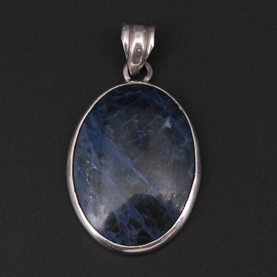 Sterling Silver Sodalite Pendant