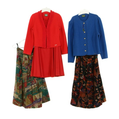 Geiger Boiled Wool Tyrol Jackets with Skirts, Made in Austria