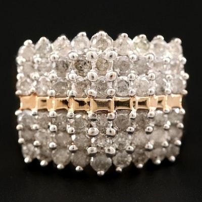 10K Yellow Gold 3.95 CTW Diamond Ring