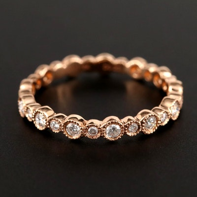 Hana 18K Rose Gold Diamond Ring