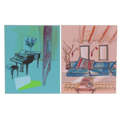 Margaret Voelker-Ferrier Interior Marker Illustration
