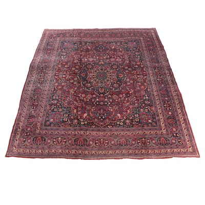 10'2 x 13'1 Hand-Knotted Persian Ahar Room Sized Wool Rug