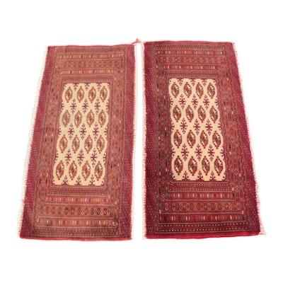 1'8 x 3'6 Hand-Knotted Pakistani Bokhara Wool Rugs