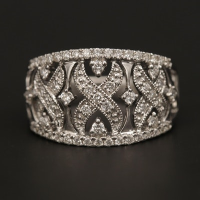 18K White Gold Openwork Diamond Ring