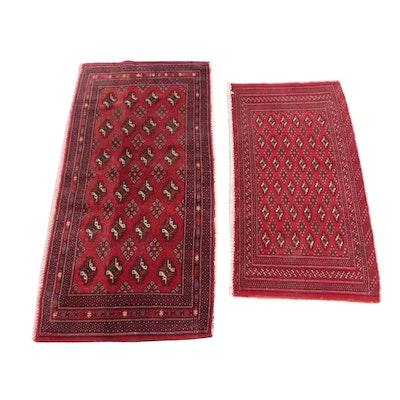 2'1 x 4'5 Hand-Knotted Pakistani Bokhara Wool Rugs
