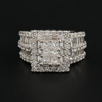 14K White Gold 4.00 CTW Diamond Ring