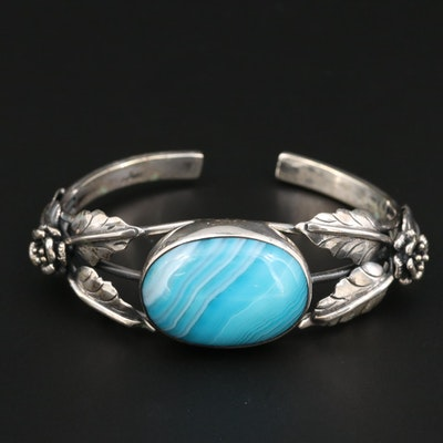 Southwestern Style Agate Cuff Bracelet