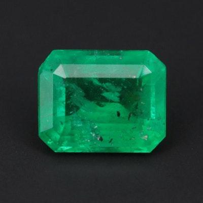 Loose 1.30 CT Emerald Gemstone