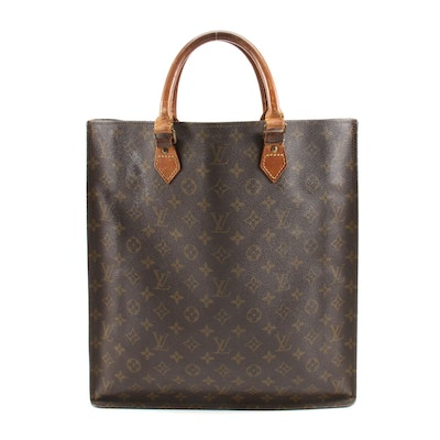 Louis Vuitton Sac Plat Tote in Monogram Canvas and Leather