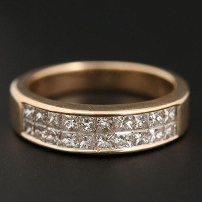 14K Yellow Gold 2.00 CTW Diamond Band