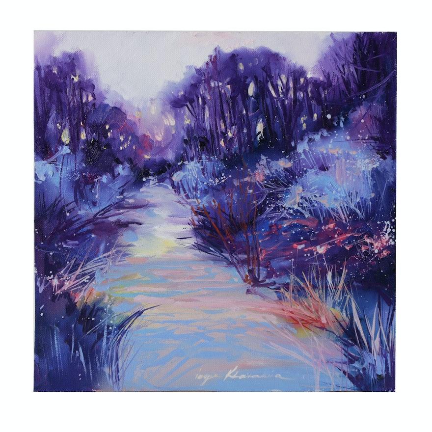 Inga Khanarina Landscape Oil Painting