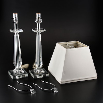 Crystal Candlestick Table Lamps, 2011