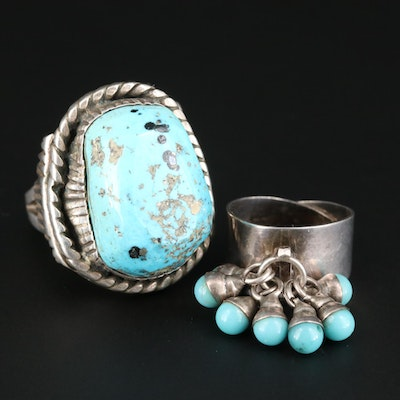 Southwestern Style Sterling Silver and Turquoise Rings