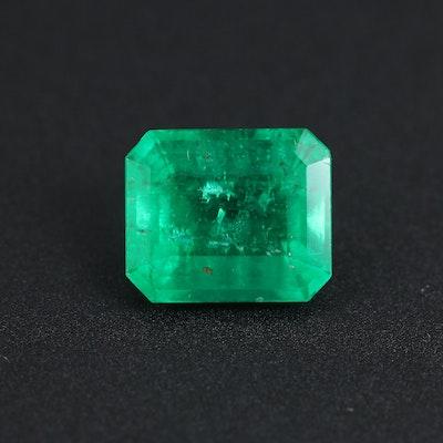Loose 2.10 CT Emerald Gemstone