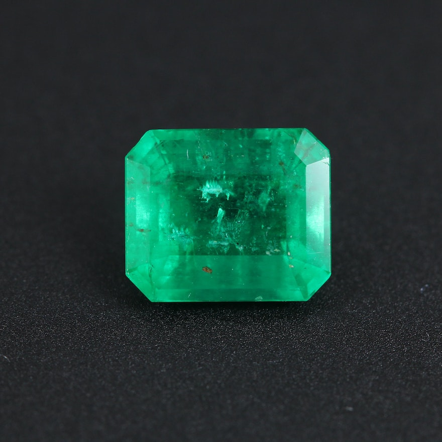 Loose 2.10 CT Emerald Gemstone