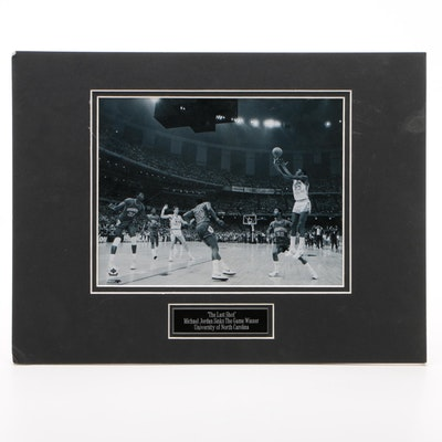 "Michael Jordan ""Last Shot Game Winner"" University of North Carolina Photo Print"