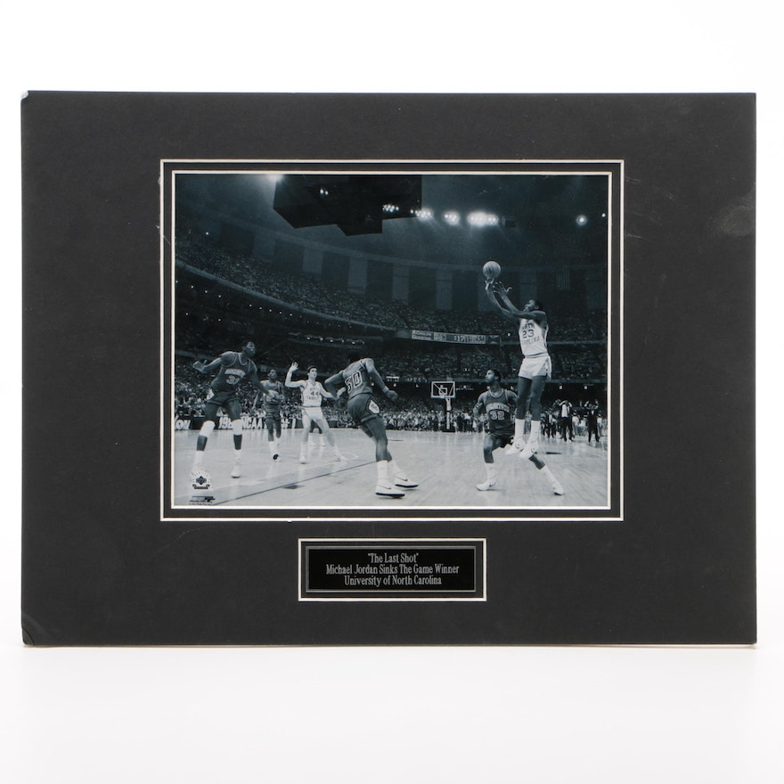 "Michael Jordan ""Last Shot Game Winner"" University of North Carolina Photo Print"
