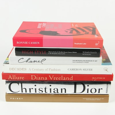 Books on Fashion and Designers Including Coco Chanel and Christian Dior