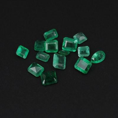 Loose 4.37 CTW Emerald Gemstones
