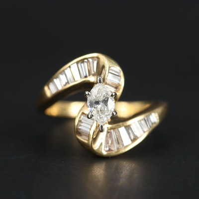 18K Yellow Gold 1.15 CTW Diamond Ring